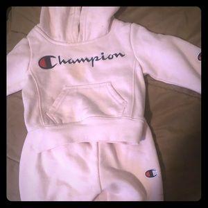 Baby girl champion sweatsuit